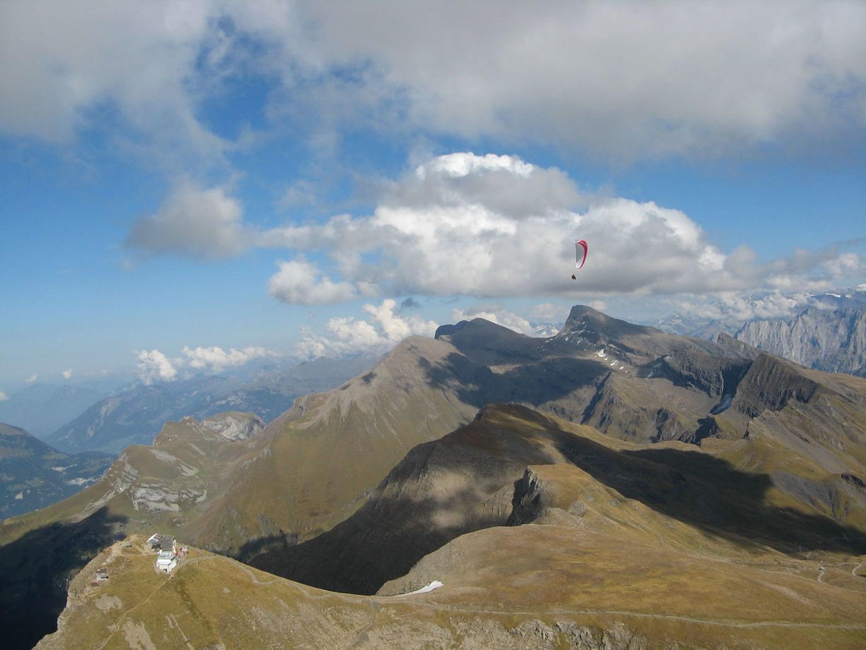 Die Dolomiten gehören zu den ergiebigsten Fluggebieten für Thermikflüge im Spätsommer/Herbst.